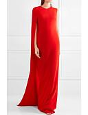 baratos Vestidos de Coquetel-Tubinho Decorado com Bijuteria Cauda Watteeau Chiffon Elegante Evento Formal Vestido 2020 com