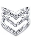 Χαμηλού Κόστους Ρολόγια Βραχιόλια-Γυναικεία Δαχτυλίδι 1pc Ασημί Χρυσό Τριανταφυλλί Χαλκός Κυκλικό Βασικό Κορεάτικα Μοντέρνα Καθημερινά Κοσμήματα