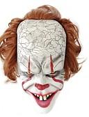 billige iPhone-etuier-Maske Maskerade Halloweenmaske Inspirert av Burlesk / Klovn Klovn Pennywise Skummel film Hvit Halloween Karneval Maskerade Voksne Herre Dame