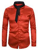 Χαμηλού Κόστους Αντρικές Μπλούζες με Κουκούλα & Φούτερ-Ανδρικά Πουκάμισο Βασικό Μονόχρωμο / Συνδυασμός Χρωμάτων Patchwork Μαύρο & Κόκκινο / Ασπρόμαυρο Λευκό
