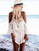 Χαμηλού Κόστους Γυναικείες μακριές και μίνι ολόσωμες φόρμες-Γυναικεία Βασικό Λευκό Ολόσωμα, Μονόχρωμο Τ M L