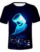 baratos Moda Íntima Exótica para Homens-Homens Camiseta Básico 3D Preto