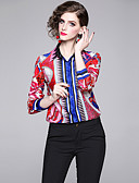 billige Toppe-Skjorte Dame - Grafisk, Trykt mønster Elegant Fuksia