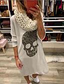 olcso Női ruhák-Női Póló Ruha Egyszínű Midi
