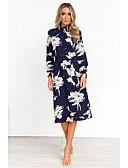 povoljno Print Dresses-Žene Korice Haljina Geometrijski oblici Do koljena