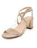 ราคาถูก รถถังสตรีและเสื้อชูชีพ-สำหรับผู้หญิง รองเท้าแตะ ส้นหนา เปิดนิ้ว หัวเข็มขัด หนังนิ่ม / หนังเทียม ไม่เป็นทางการ / minimalism วสำหรับเดิน ฤดูร้อน / ฤดูร้อนฤดูใบไม้ผลิ สีดำ / สีชมพู / ผ้าขนสัตว์สีธรรมชาติ