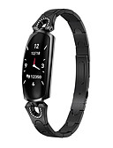 baratos Smart watch-Relógio inteligente Digital Estilo Moderno Esportivo 30 m Impermeável Monitor de Batimento Cardíaco Bluetooth Digital Casual Ao ar Livre - Preto Ouro Rose Prata