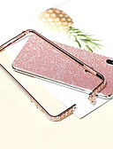 baratos Capinhas para iPhone-caso para apple iphone xs / iphone xr / iphone xs max / 7 8 plus / 6splus / 6 s tampa traseira de strass brilho brilho de metal