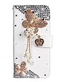 baratos Cases & Capas-Capinha Para Samsung Galaxy S9 / S9 Plus / S8 Plus Carteira / Porta-Cartão / Com Strass Capa Proteção Completa Sólido PU Leather