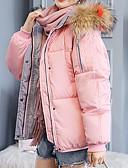olcso Női hosszú kabátok és parkák-Női Egyszínű / Színes Rövid Kosaras, POLY Fekete / Arcpír rózsaszín / Barna M / L / XL