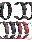 billige Leather Watch Band-ekte lær utskiftning armbånd spenne armbånd for huawei talkband b5