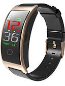 baratos Smart watch-Relógio inteligente Digital Estilo Moderno Esportivo Couro PU 30 m Impermeável Monitor de Batimento Cardíaco Bluetooth Digital Casual Ao ar Livre - Preto Dourado