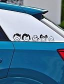 baratos Cabos de telefone celular-5x25 cm feliz família padrão de design de arte adesivo de vinil estilo do carro decalque acessórios do carro