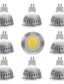 baratos Protetores de Tela para iPhone-9pcs 15 W Lâmpadas de Foco de LED 300 lm MR16 MR16 1 Contas LED COB Novo Design Branco Quente Branco 12 V