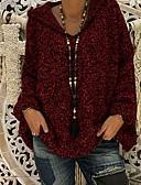 Χαμηλού Κόστους Μπούρκα-Γυναικεία Μονόχρωμο Μακρυμάνικο Πουλόβερ Πουλόβερ Jumper, Με Κουκούλα Μαύρο / Κρασί / Θαλασσί Τ / M / L