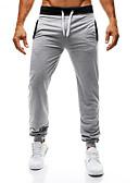 billige T-skjorter og singleter til herrer-Herre Grunnleggende EU / USA størrelse Tynn Chinos Bukser - Ensfarget Svart Mørkegrå Grå US36 / UK36 / EU44 US38 / UK38 / EU46 US40 / UK40 / EU48 / Snorer