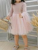 זול שמלות לתינוקות-שמלה שרוול ארוך קולור בלוק בנות תִינוֹק