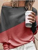 billige Bluser-Bluse Dame - Fargeblokk Hvit