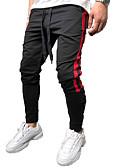 baratos Calças e Shorts Masculinos-Homens Activo / Básico Chinos / Calças Esportivas Calças - Sólido / Estampado Algodão Preto Vermelho Amarelo XL XXL XXXL