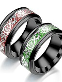 billiga Kvarts klockor-Herr Dam Bandring Ring Tail Ring 1st Grön Mörkröd ljusgrön Rostfritt stål Cirkelrunda Vintage Grundläggande Mode Dagligen Smycken