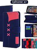 baratos Capinhas para iPhone-Capinha Para Apple iPhone XS / iPhone XR / iPhone XS Max Carteira / Porta-Cartão / Com Suporte Capa Proteção Completa Sólido PU Leather