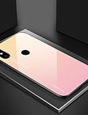 baratos Capinhas para Xiaomi-Capinha Para Xiaomi Xiaomi Redmi Note 5 Pro / Xiaomi Redmi Note 5 / Nota do Redmi 7 Ultra-Fina Capa traseira Cores Gradiente Vidro Temperado