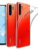 baratos Capinhas para Huawei-Capinha Para Huawei Huawei P30 Pro Ultra-Fina / Áspero Capa traseira Sólido TPU