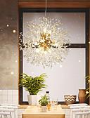 billiga Wraps & halsdukar för kvinnor-8-Light Utomhus / Mini Hängande lampor Glödande Elektropläterad Metall Kristall, Kreativ 110-120V / 220-240V Varmt vit / Kall vit