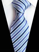 olcso Férfi nyakkendők és csokornyakkendők-Férfi Csíkos Party / Munkahelyi / Aktív - Nyakkendő