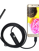cheap Phone Cables & Chargers-5.5mm Lens USB Endoscope Camera Waterproof IP67 Inspection Borescope Soft 3M Length for Android PC