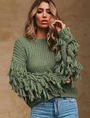 olcso Női pulóverek-Női Egyszínű Hosszú ujj Bő Pulóver Pulóver jumper Ősz / Tél Fekete / Bor / Arcpír rózsaszín S / M / L