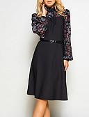olcso Női ruhák-Női Vintage A-vonalú Ruha - Nyomtatott, Színes Midi