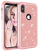 baratos Capinhas para iPhone-Capinha Para Apple iPhone XS / iPhone XR / iPhone XS Max Antichoque / Com Strass / Estampada Capa traseira Glitter Brilhante PC