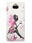 billige Samsung Case-Etui Til Sony Sony Xperia 10 / Sony Xperia 10 Plus Kortholder / Flipp / Mønster Heldekkende etui Ord / setning / Geometrisk mønster / Tegneserie PU Leather