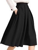 זול חצאיות לנשים-אחיד - חצאיות גזרת A בגדי ריקוד נשים שחור XS S M