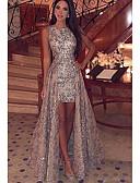 olcso Női ruhák-Női Elegáns és luxus Vékony Bodycon Ruha - Flitter, csipke nyomtatás Maxi