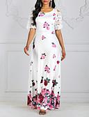 baratos Vestidos Estampados-Mulheres Bainha Vestido - Estampado, Floral Longo