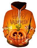 cheap Men's Clothing-Men's Halloween Hoodie - 3D Orange US32 / UK32 / EU40