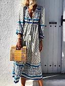 povoljno Ženske haljine-Žene Osnovni Shift Haljina - Print, Geometrijski oblici Maxi