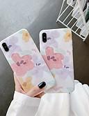 baratos Capinhas para iPhone-Capinha Para Apple iPhone XS / iPhone XR / iPhone XS Max Antichoque / Espelho / Estampada Capa traseira Flor TPU