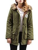 olcso Női hosszú kabátok és parkák-Női Egyszínű / Szöveg Anorák, POLY Fekete / Arcpír rózsaszín / Narancssárga M / L / XL