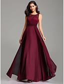Χαμηλού Κόστους Φορέματα Παρανύμφων-Γραμμή Α Με Κόσμημα Μακρύ Σιφόν / Δαντέλα Κομψό / Χρώματα Pastel Χοροεσπερίδα Φόρεμα 2020 με Εισαγωγή δαντέλας