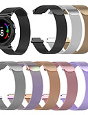 baratos Bandas de Smartwatch-banda smartwatch para forerunner235 / 735 / 735xt garmin milanês loop pulseira de aço inoxidável moda pulseira