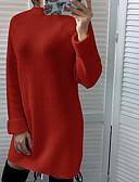 Χαμηλού Κόστους Γυναικεία Φορέματα-Γυναικεία Σε γραμμή Α Φόρεμα - Μονόχρωμο Πάνω από το Γόνατο
