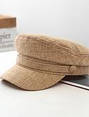 Χαμηλού Κόστους Men's Hats-Ανδρικά Μονόχρωμο Ενεργό Βασικό χαριτωμένο στυλ Βαμβάκι Τζόκεϊ Όλες οι εποχές Μαύρο Θαλασσί Καφέ
