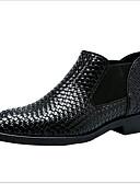 ราคาถูก ชุดแม่เจ้าสาว-สำหรับผู้ชาย รองเท้าสบาย ๆ PU ฤดูใบไม้ร่วง & ฤดูหนาว บูท รักษาให้อุ่น รองเท้าบู้ทหุ้มข้อ สีดำ / แดง / ฟ้า