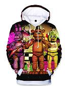 billige Topper til gutter-Barn Baby Gutt Grunnleggende Trykt mønster Trykt mønster Langermet Hettegenser og sweatshirt Regnbue