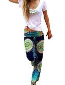 זול מכנסיים לנשים-בגדי ריקוד נשים בוהו משוחרר רגל רחבה מכנסיים - דפוס דפוס קשת M L XL