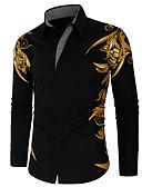 povoljno Muške košulje-Majica Muškarci - Boho Dnevni Nosite / Ulica Geometrijski oblici Crn