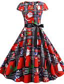 povoljno Ženske haljine-Žene Osnovni A kroj Haljina - Print, Color block Iznad koljena